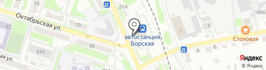 Автостанция г. Бор на карте Бора