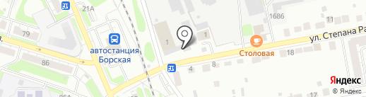 Борская автошкола, НОУ на карте Бора