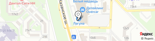 Арт презент на карте Нижнего Новгорода