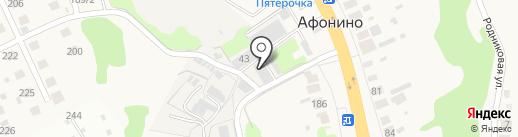 Автомойка на Магистральной на карте Афонино