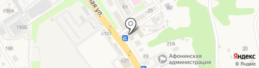 Магазин автозапчастей на карте Афонино