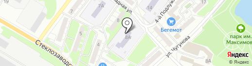 Детский сад №19, Земляничка на карте Бора