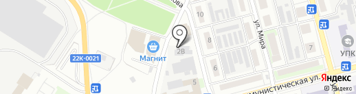Киоск по продаже мороженого на карте Бора