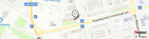 Стеклозаводская городская библиотека на карте Бора