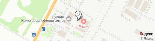 Луком-А-Нижний Новгород на карте Кстово