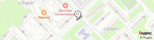 Киоск по продаже хлебобулочных изделий на карте Кстово