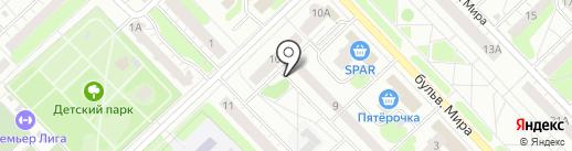 Золотой локон на карте Кстово