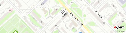 Плаза на карте Кстово