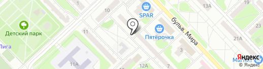 Норси-Пирс, ЗАО на карте Кстово