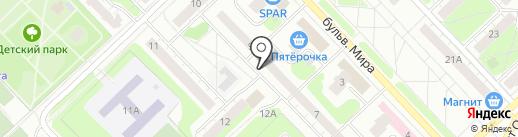 Виртуаль на карте Кстово