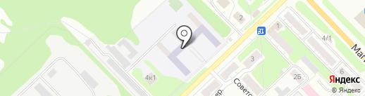 Кстовская школа-интернат на карте Кстово