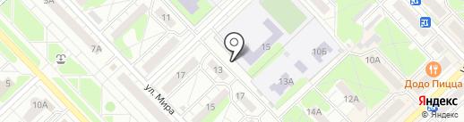 Средняя школа №5 на карте Кстово