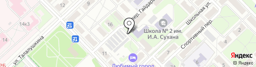 Средняя общеобразовательная школа №2 им. И.А. Сухана на карте Кстово