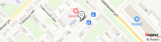Вектор на карте Кстово