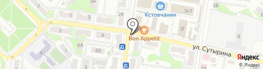 Магазин мяса на карте Кстово