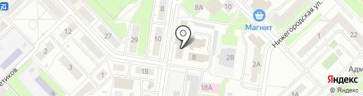 Уголовно-исполнительная инспекция на карте Кстово
