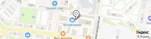 Космея на карте Кстово