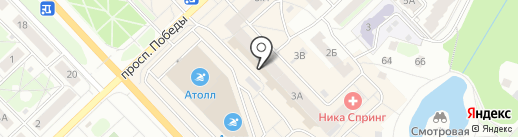 Непоседа на карте Кстово