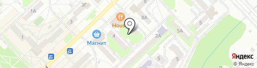 Каскад на карте Кстово