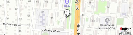 Солидарность на карте Волгограда