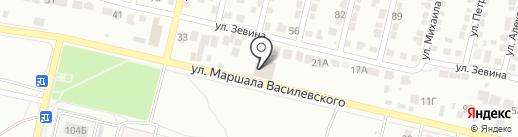 Маршал на карте Волгограда