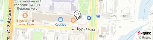 Волгахайм на карте Волгограда