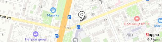 Румяный Колобок на карте Волгограда