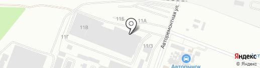 Автомания на карте Волгограда