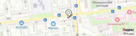 Радуга1 на карте Волгограда