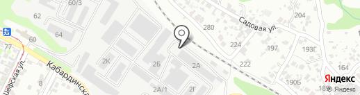 Радуга на карте Волгограда