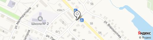 Продуктовый магазин на карте Городища