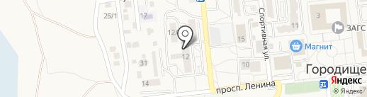 Всероссийское добровольное пожарное общество на карте Городища