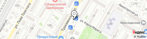 Магазин кондитерских изделий на карте Волгограда