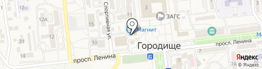 Магазин мясной продукции на карте Городища