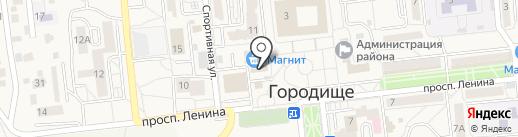 Магазин молочной и мясной продукции на карте Городища