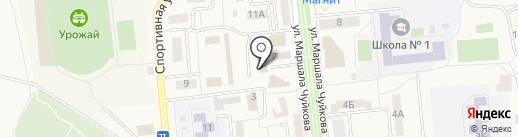 Баня на карте Городища