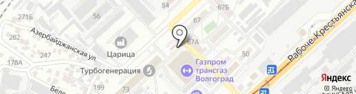 H2O на карте Волгограда