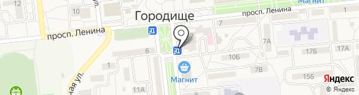 Кентавр на карте Городища