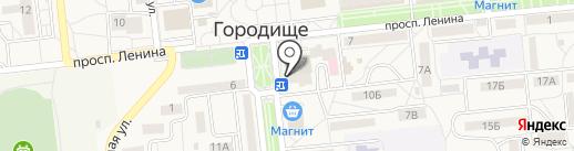 Золушка на карте Городища