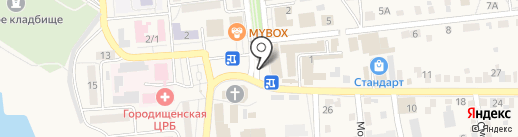 Томико на карте Городища