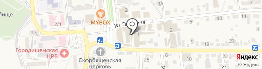 Камелия на карте Городища