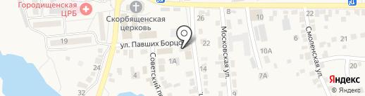 Семейка на карте Городища