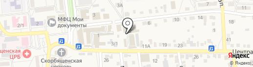 Башмачок на карте Городища