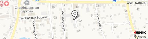 Магазин автотоваров на карте Городища