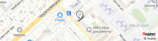 Владушка на карте Волгограда