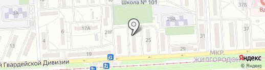 Агат на карте Волгограда