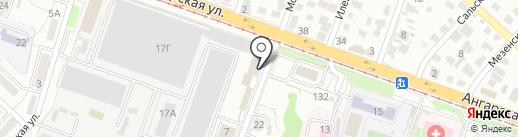 Каспико на карте Волгограда