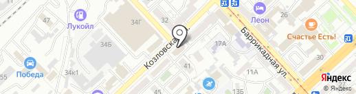 Управление капитального строительства на карте Волгограда