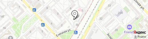 Шина-машина на карте Волгограда