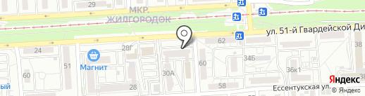 Волга-МФ на карте Волгограда